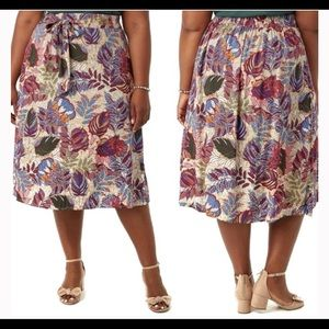 Westport NWT NEW tropical Hawaiian wrap skirt 1X
